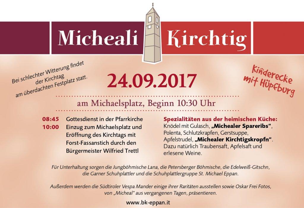 Micheali Kirchtig 2017