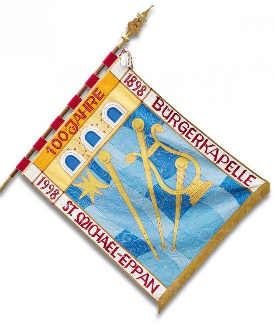 Vereinsfahne Seite blau