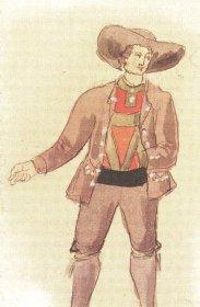 Historische skizze der Eppaner Tracht: Karl von Lutterotti, ca. 1820